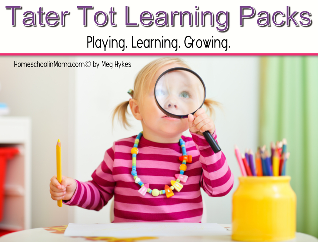 Find all of our Tater Tot Learning Packs here for your little taters!