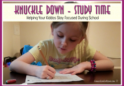 Knuckle Down – Study Time {Free} Printable
