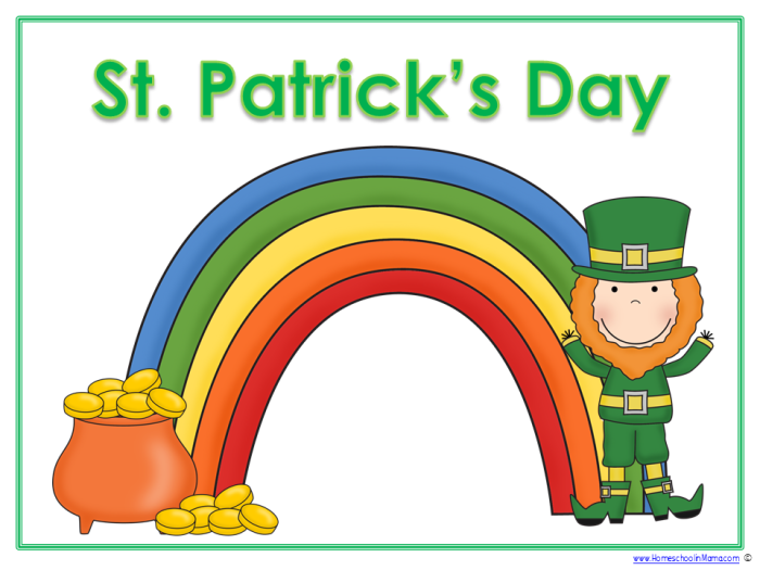 St. Patricks Day - Tater Tot Learning Pack from www.HomeschoolinMama.com