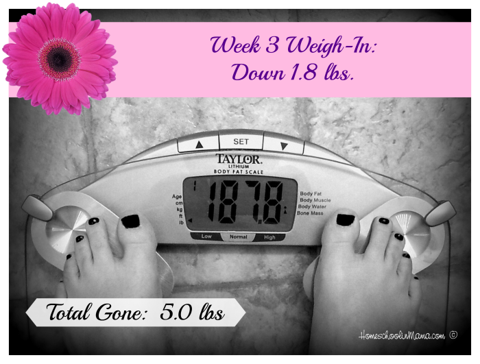 One Roll at a Time - Week 3 Weigh-In with Shaklee 180™ Turnaround Kit @HomeschoolnMama