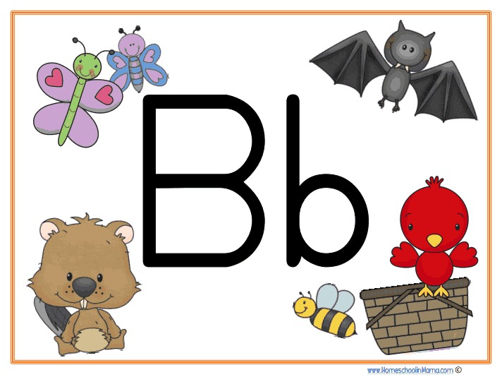 Letter Bb Learning Pack from HomeschoolinMama.com
