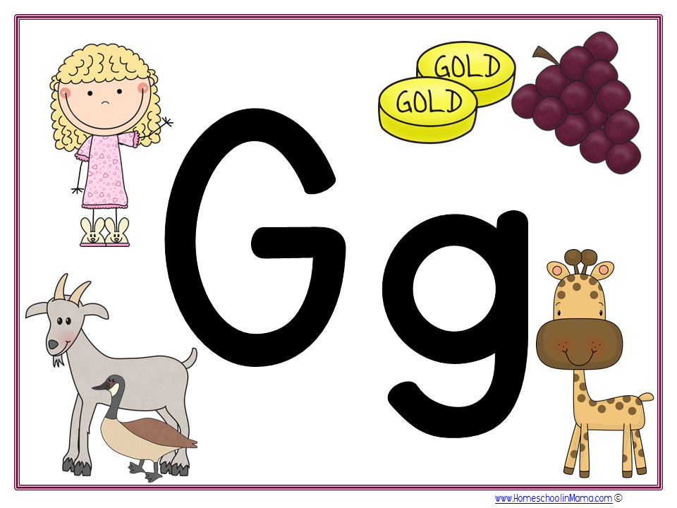 Tater Tot Tuesday - Letter Gg Learning pack from www.HomeschoolinMama.com