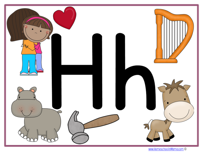 Tater Tot Letter Hh Learning Pack from www.HomeschoolinMama.com by Meg Hykes
