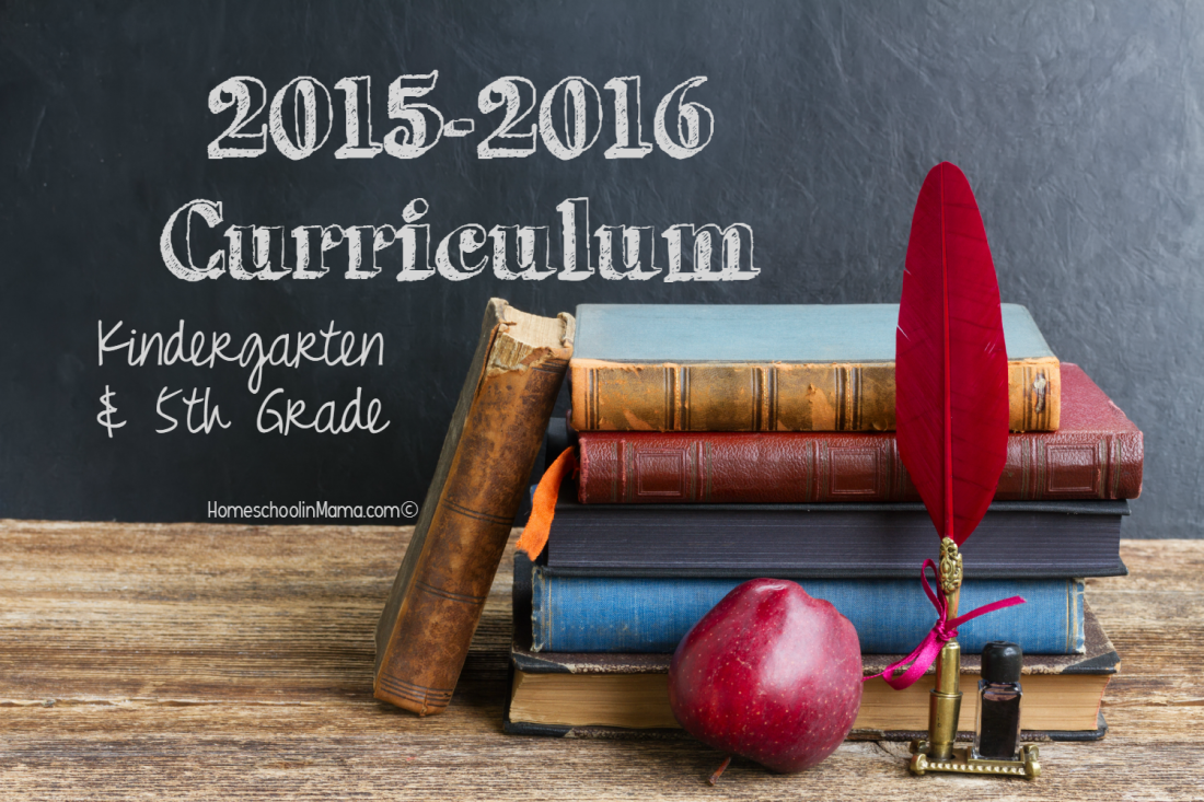 Our Curriculum for 2015-2016 Homeschool Year