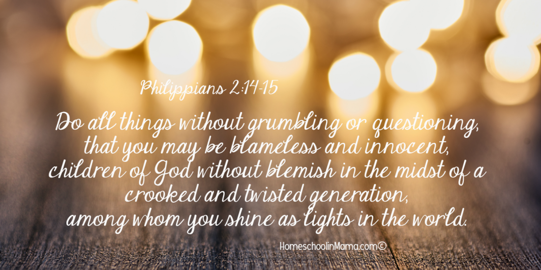 Mama Sets The Tone - Philippians 2:14-15