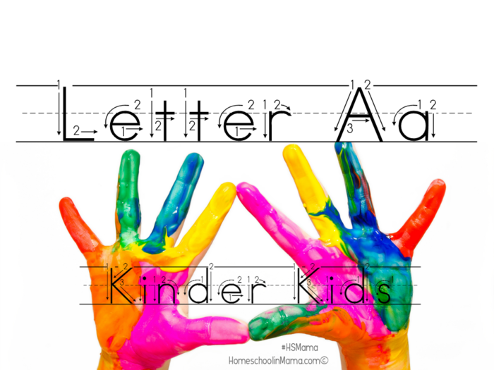 Kinder Kids Letter Aa
