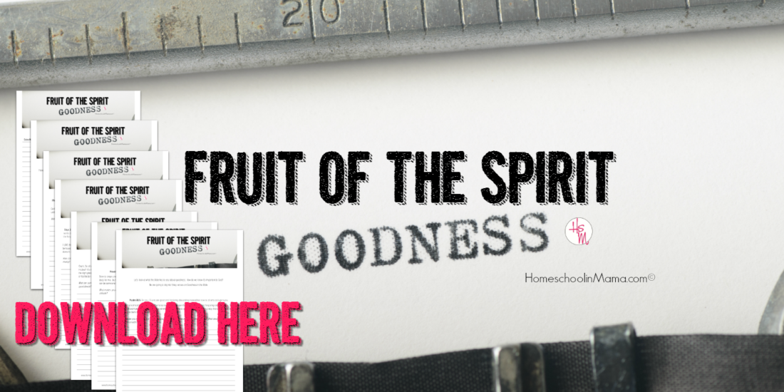Fruit of the Spirit Bible Study - Goodness